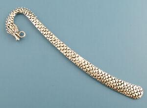 4 Dragon Bookmark Blanks - Antique Silver - 12cm Long - Add Beads etc -  J03033K