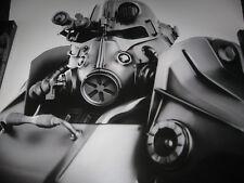 "FALLOUT T-45 POWER ARMOR Lithograph Bethesda IV New Vegas Print 24"" X 22"" #201"