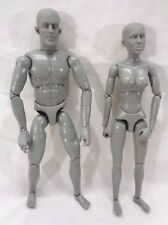 """Sideshow Toys Grey FEMALE & Male Figure 1/6 12"""" - Lot of 2"""