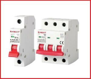 Leitungsschutzschalter LS-Schalter MCB Sicherungsautomat B,C 1,3 Polig 1A-63A