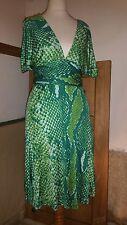 Diane Von Furstenberg Silk Iconic Wrap Dress - Green, S, BNWT