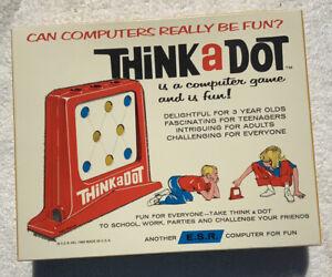 VIntage 1965 THINK A DOT Computer Game, 1960s Toy ESR, (Unopened)