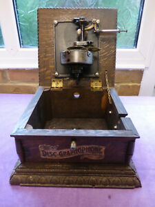 LATE COLUMBIA AJ GRAPHOPHONE (GRAMOPHONE/PHONOGRAPH) BASE ONLY.RESTORATION/PARTS