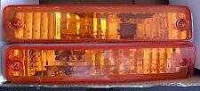 90-91 Honda CRX Amber Bumper Lights Left Right Side Parking Signal Lamp Assembly