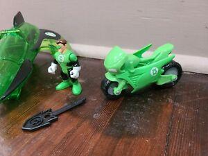 Fisher-Price DC Super Friends Imaginext Green Lantern Jet Plane, Bike and Figure