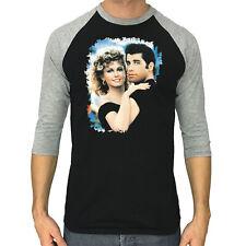 GREASE shirt John Travolta Olivia Newton 1978 movie 3/4 Sleeve Raglan T-shirt