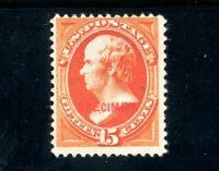 USAstamps Unused FVF US Webster Specimen Scott 189s MNG