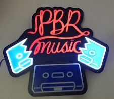 """Pabst Blue Ribbon PBR Music Motion LED Neon Beer Sign 30x30"""" - Brand New In Box!"""
