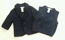 Janie and Jack Holiday Tree Vest and Dressy Blazer baby boys size 3/6m new $140