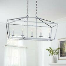 Home Decorators Collection Weyburn 5-Light Chrome Caged Island Chandelier