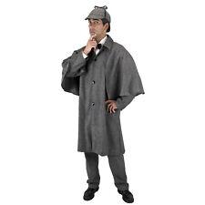 Victorian Steampunk Sherlock Holmes Halloween Costume Trench Cloak Cape Jacket