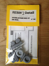 SPITFIRE Late Mark 1/32 RESIN 2 DETAIL scale wheels box tread