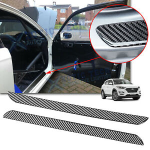 Carbon Fiber Door Plate Scuff Sill Anti Scratch Protect Trim For Hyundai Elantra