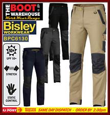 Bisley Mens FLEX & MOVE Work Pants BPC6130 Stretch Cotton Canvas SUPERB COMFORT!