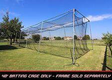 Cimarron CM-402024TP Softball / Baseball Batting Cage Net 40'x12'x10' with door