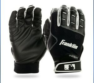 Franklin Batting Gloves 2nd Skinz XT, Black, Mesh Vent, Various Adult Sizes NWT