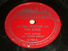 Davis Sisters with Curtis Dublin: In The Shelter Of The Rock 78 - Black Gospel