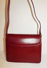 Gucci Vintage Burgundy Leather GG Hardware Shoulder Bag Italy