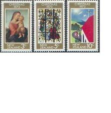 New Zealand 1973 CHRISTMAS (3) Unhinged Mint SG 1034-6