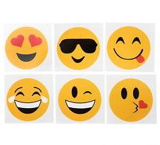 "50 Emoji 2"" Tattoos Birthday Party Favor Goody Bags Bulk Wholesale Carnival New"