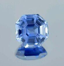 3.30 Ct Natural Flawless Kashmir Blue Sapphire Asscher Loose Cut Gemstone 8x8 MM