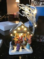 Light Up Christmas House - Christmas Store w/ Shoppers - Winter Christmas Scene