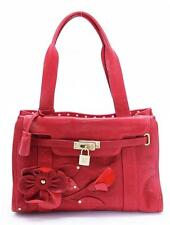 MOSCHINO Red Leather CHEAP AND CHIC Bag Handbag Purse Tote Satchel
