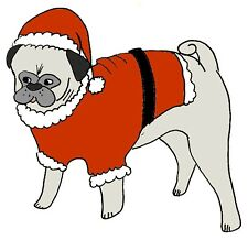 Pug dog  holiday christmas cards  winter  CUTE