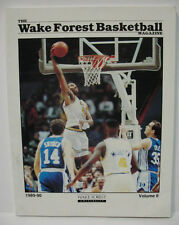 WAKE FOREST DEMON DEACONS MAGAZINE 1989-90 BASKETBALL YEARBOOK VOLUME 2