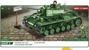 COBI 2555 Panzer KV1 Teile 656 Figur 2 HISTORICAL COLLECTION NEU / OVP