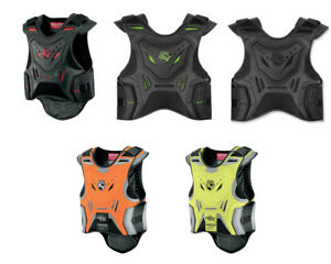 NEW ICON STYKER MOTORCYCLE VEST FIELD ARMOR - Pick Size / Color