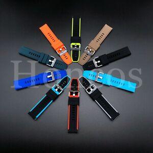 Z22 Watch Band Diver SKX171SKX173 Black Rubber Watch Strap 22/20MM Fits Seiko