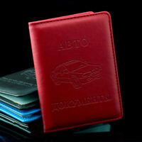 RPU Leather on Cover for Car Driving Documents Card Credit Holder For Men US