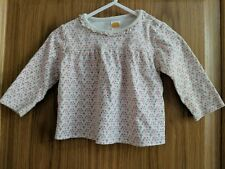 MINI MODE BEAUTIFUL COTTON TOP FLORAL 6-9 MONTHS