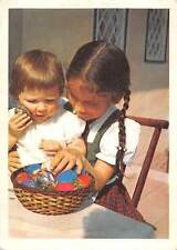 Frohe ostern Children Basket Eggs Happy Easter