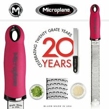 Microplane PREMIUM ZESTER Hard Cheese CITRUS Grater - PINK with Cover