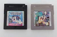 Tasmanian Devil Munching Madness & Taz Mania 2 Nintendo Game Boy Cartridges Only
