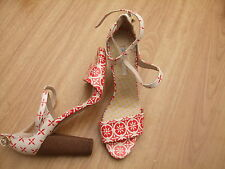 BODEN RED ROMA HEELS  SIZE 39==6 BNWOB