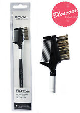 Royal EYE BROW GROOMER Make Up Brush and Comb Natural Bristle NEW FREE POSTAGE