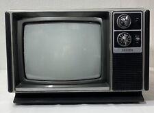 """Vintage Zenith 13"""" Black & White Tube TV M1310C Television 1981 Dial Knobs"""