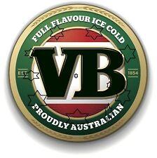 VB BEER VIC BITTER DECAL STICKER LABEL 9 INCH DIA 230 MM HOT ROD FRIDGE BAR xx