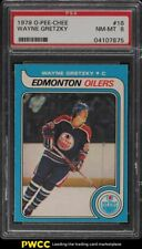 1979 O-Pee-Chee Hockey Wayne Gretzky ROOKIE RC #18 PSA 8 NM-MT