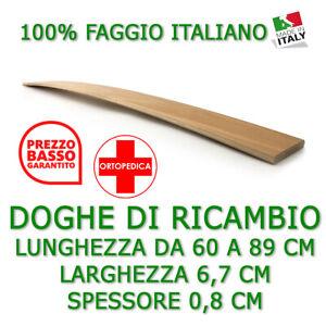 DOGA DOGHE DI RICAMBIO PER RETI LETTI IN LEGNO-TUTTE LE MISURE-LARGHEZZA 6,8 CM