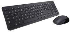 Dell Km636 - Keyboard And Mouse Set - Wireless - Uk Layout - Black ... NEW