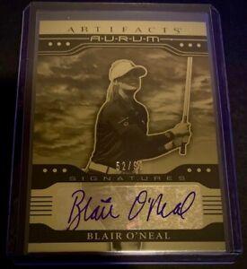 2021 Upper Deck Artifacts LPGA Blair O'Neal Gold Aurum Autograph AUTO Card 52/99