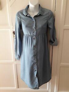 H&M Maternity/Nursing Denim Style Shirt Dress Size XS  6