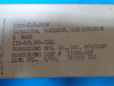 Hammarlund Model SP-600 JX-17 Variable Capacitor C65 New Old Stock Rare Part