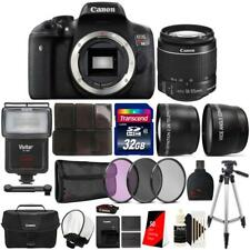 Canon EOS Rebel T6 Camera + 18-55mm Lens + 75-300mm Lens +  Case + Accessory Kit