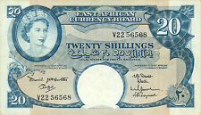 East Africa P-43 20 shillings (1961-1963) pressed XF