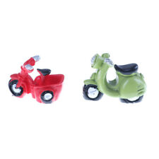 2 pcs Resin Mini Motorcycle Miniature House Fairy Garden Micro Landscape  FO